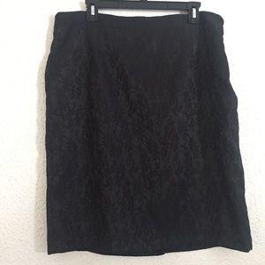 Dana Buchman Black Lace Skirt